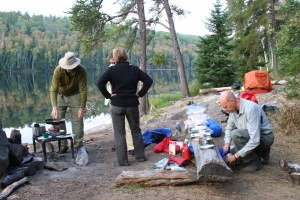 Jeff cooking in BWCA